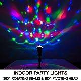 BRIGHT ZEAL Rotating LED Dj Party Lights Disco Ball Lamps - Multicolor Karaoke Dance Lights 4 Room - Stage Lights Effect Strobe Lights 4 Parties Outdoor - Kaleidoscope Light Projector Indoor Lightshow