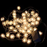 Festival Holiday Haning Tree lights Indoor and Outdoor String Lights 48 Bulbs 1.5M 5ft Ball String Lights For Bedroom, Patio, Parties Water Proof Warm White