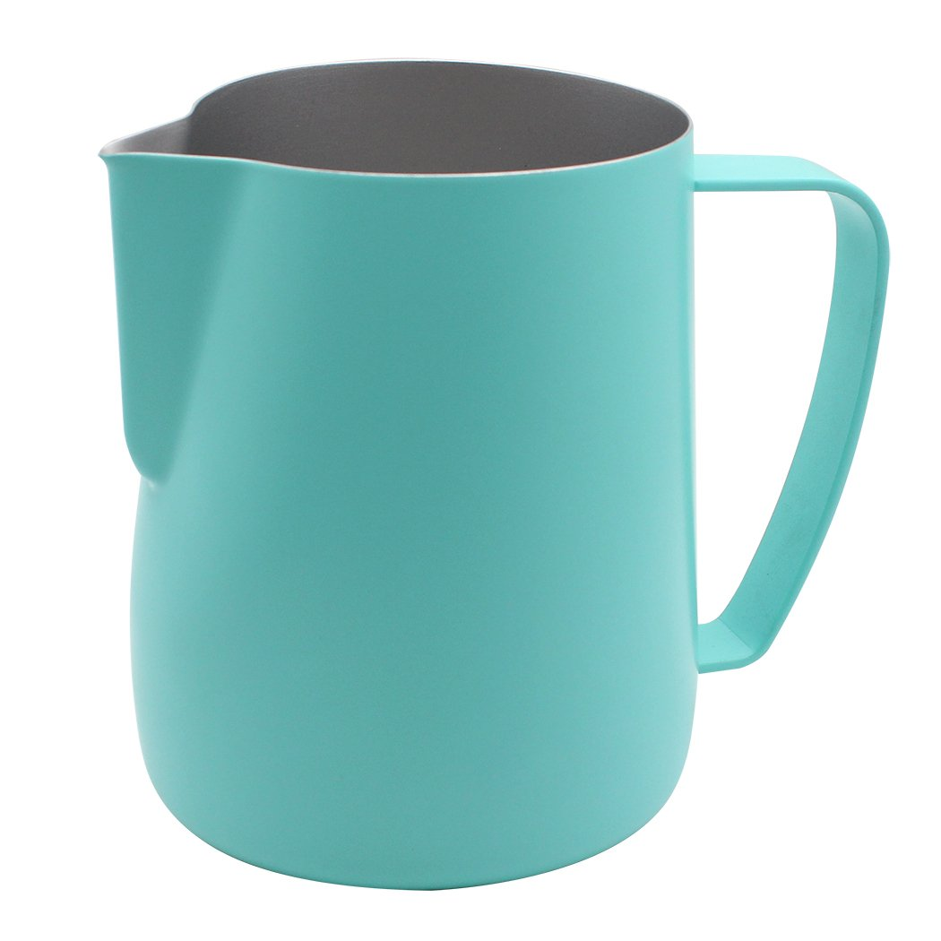 Dianoo Stainless Steel Frothing Pitcher Jug Steaming Pitcher Suitable For Coffee, Latte And Frothing Milk 600ml Blue by Dianoo