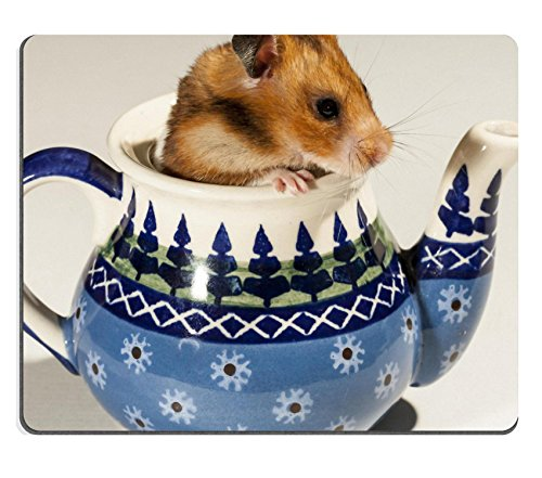 Price comparison product image MSD Natural Rubber Mousepad Hamster in ceramic teapot portrait of popular pet IMAGE 19855644