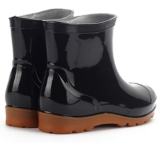 ea50bf4a0bd Amazon.com: Xinantime Men's Rain Boots Men's Short Four-Season Rain ...