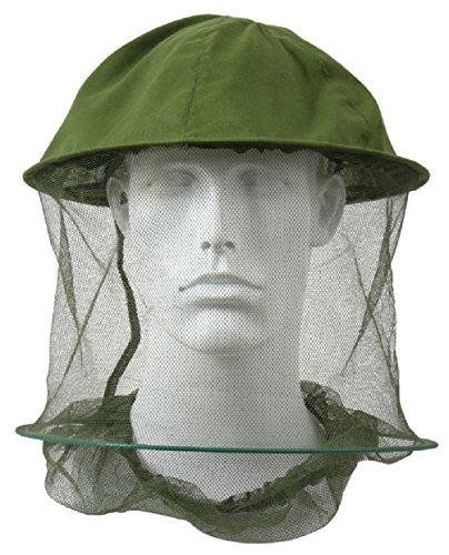 Nets Olive Drab Head (GI Type Olive Drab Green Hunting Camping Jungle Mosquito Bug Head Face Net Hat)