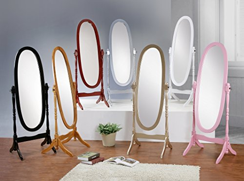 Roundhill Furniture 3488PI Queen Anna Style Floor Cheval Mirror, Pink by Roundhill Furniture (Image #3)