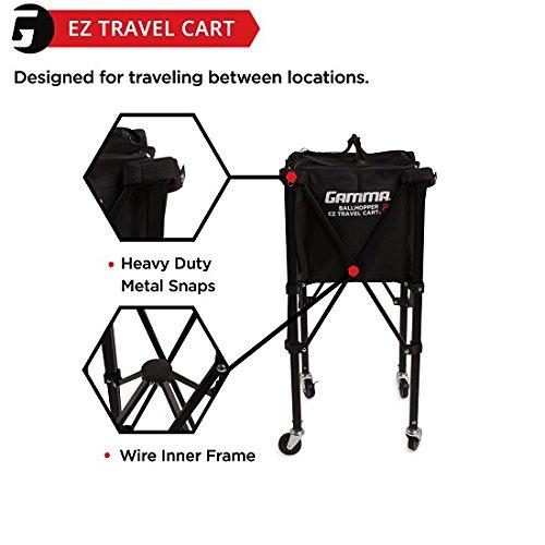 Gamma Sports EZ Travel Cart Pro 250 Ball Hopper, Black