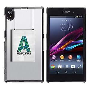 For Sony Xperia Z1 / L39H / C6902 / C6903 / C6906 / C6916 / C6943 Case , A Art Wall Shape Paper Hanging - Diseño Patrón Teléfono Caso Cubierta Case Bumper Duro Protección Case Cover Funda