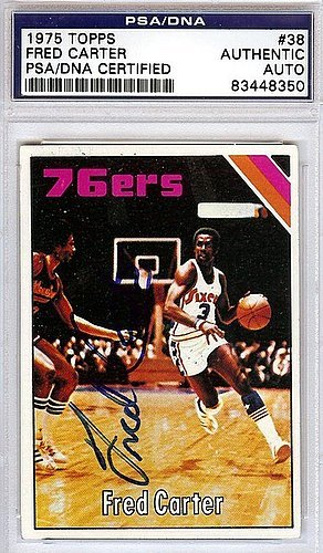33005a3d5a8 Fred Carter Signed 1975 Topps Trading Card #38 - PSA/DNA Authentication -  NBA