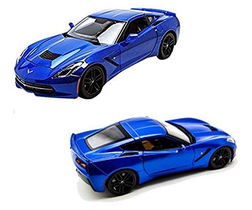 New 1:18 W/B SPECIAL EDITION - BLUE 2014 CHEVROLET CORVETTE STINGRAY Z51 Diecast Model Car By Maisto