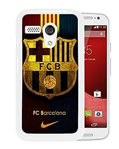 Beautiful Designed Case With Fc Barcelona White For Motorola Moto G Phone Case