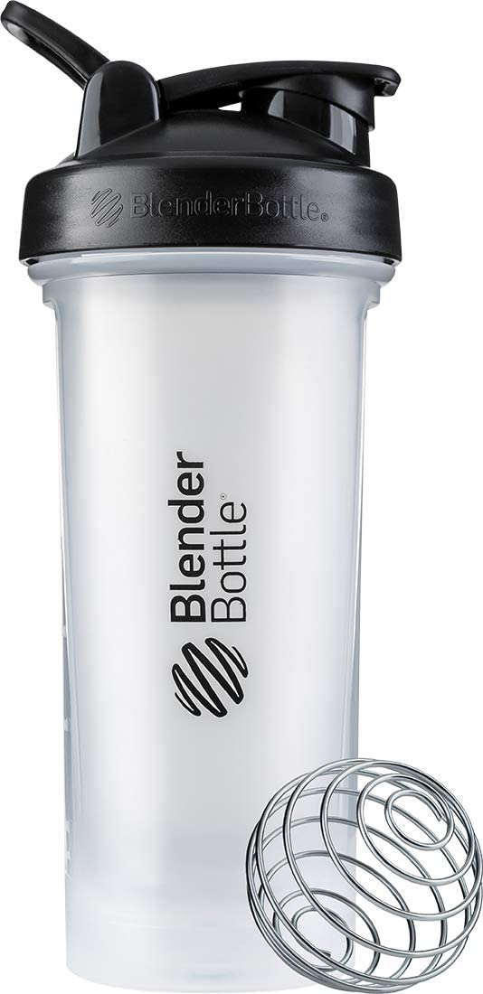 BlenderBottle Classic V2 Shaker Bottle, 28-Ounce, Clear/Black