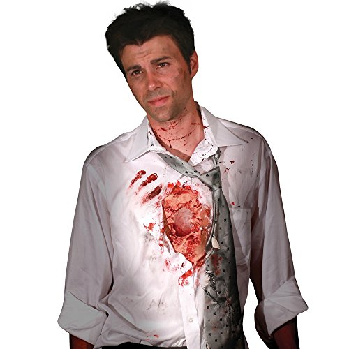 (Morphsuits Digital Dudz Beating Heart Flesh Wound, Flesh/Red, One Size)