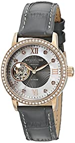 Stuhrling Original Women's 710.04 Vogue Automatic Self Wind Grey Genuine Leather Strap Watch
