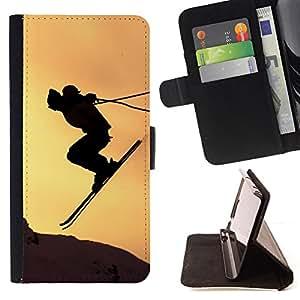 Jordan Colourful Shop - Sunset Sky Jump Mountains For HTC Desire 820 - < Leather Case Absorci????n cubierta de la caja de alto impacto > -