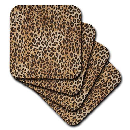 3dRose cst_162251_2 Brown, Tan and Black Cheetah Print-Soft Coasters, Set of - Cheetah Mug