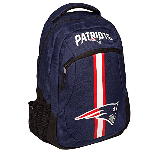 Forever Collectibles NFL New England Patriots Action Backpack, Team Color, One -