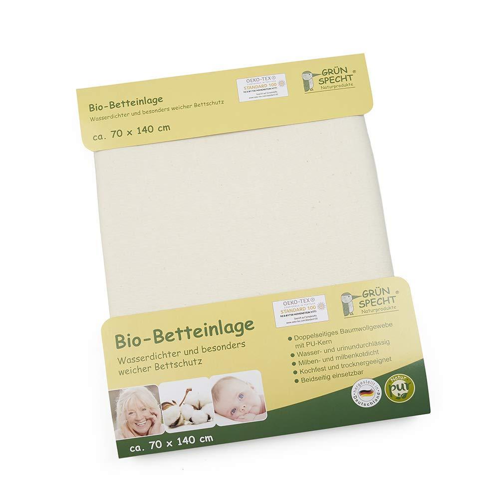 70 x 140, Unisex, Algod/ón GR/ÜNSPECHT Naturprodukte 617-V1 baby diaper cover Baby Diaper Covers