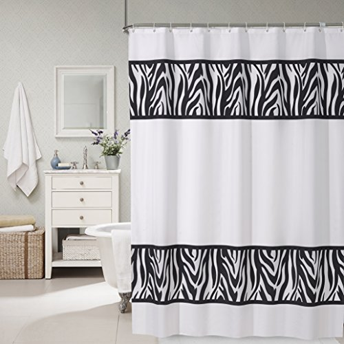 zebra fabric shower curtain - 5