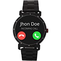 Watchout Wearables Elegant Gen2 Jazz Black Smart Watch with Heart Rate Monitor (Black Steel)