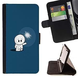 For Samsung Galaxy S5 Mini, SM-G800 - Cute Cute Dude /Funda de piel cubierta de la carpeta Foilo con cierre magn???¡¯????tico/ - Super Marley Shop -