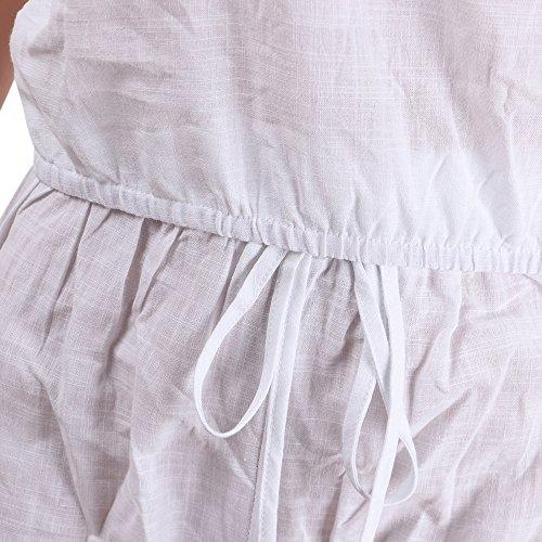 con Tubo Shorts Casuale Due Top Bandeau Spiaggia Smanicato Tute Estivi Pezzi Donna Moda Eleganti Bianco Tuta Spalline Volant Senza Pantaloncini wTCWOqzU