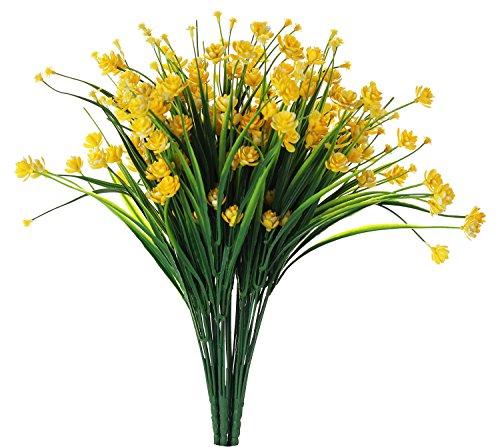 Everlasting Daffodils - JAKY Global Babys Breath Gypsophila Artificial Flowers 6 Bundle Fake Daffodils Greenery Shrubs Plants Decor Wedding Party DIY Home Garden(Yellow)