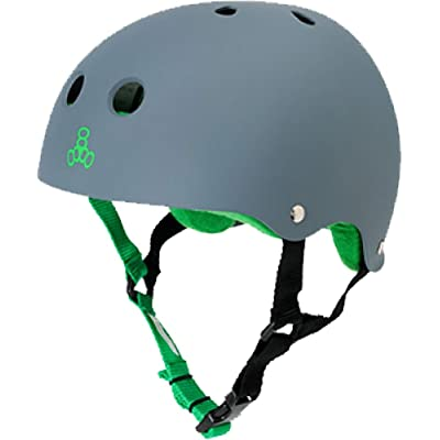 Triple Eight Helmet Carbon Rubber Green XLarge Skate Helmets : Skate And Skateboarding Helmets : Sports & Outdoors
