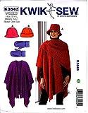 Kwik Sew K3543 Hats Sewing Pattern, Mittens and Shawl