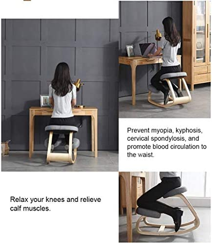 MXL Kneeling Chairs Knee Ergonomic Chair Children Sitting Posture Correcting, Suitable for Home and Office Stools (Color : Blue, Size : 50 * 71 * 55cm)