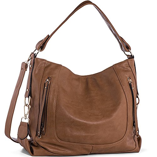 Handbags for Women,UTAKE Women's Shoulder Bags PU Leather Hobo Handbags Top-Handle Purse for Ladies - Hobo Dark Brown Handbags