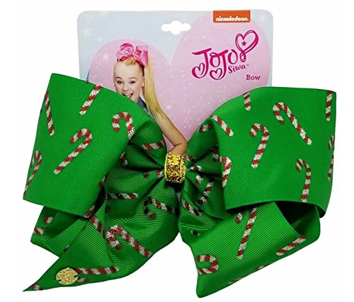 Nickelodeon JoJo Siwa Giant Christmas Candy Cane Bow Hair Clip (Cane Makers Candy)