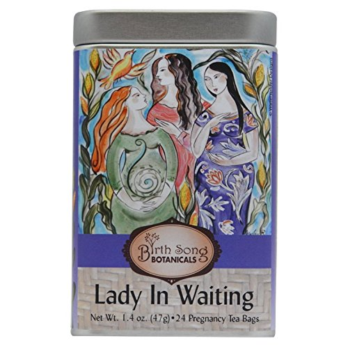 Birth Song Botanicals Lady in Waiting Tea Best Pregnancy Tea with Organic Raspberry, 24 Servings in a Tin Canister - Botanical Canister