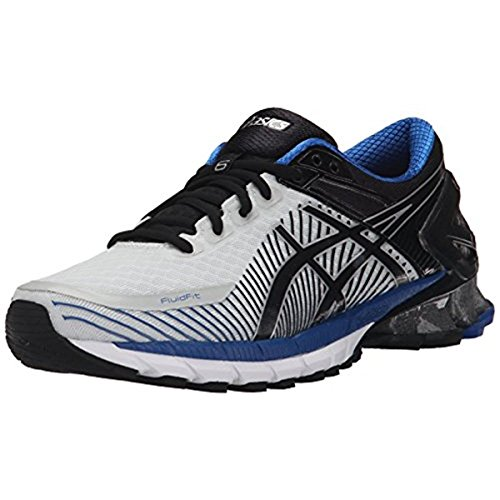 ASICS Men's GEL-Kinsei 6 Running Shoe, Flash Yellow/White/Blue, 10 M US