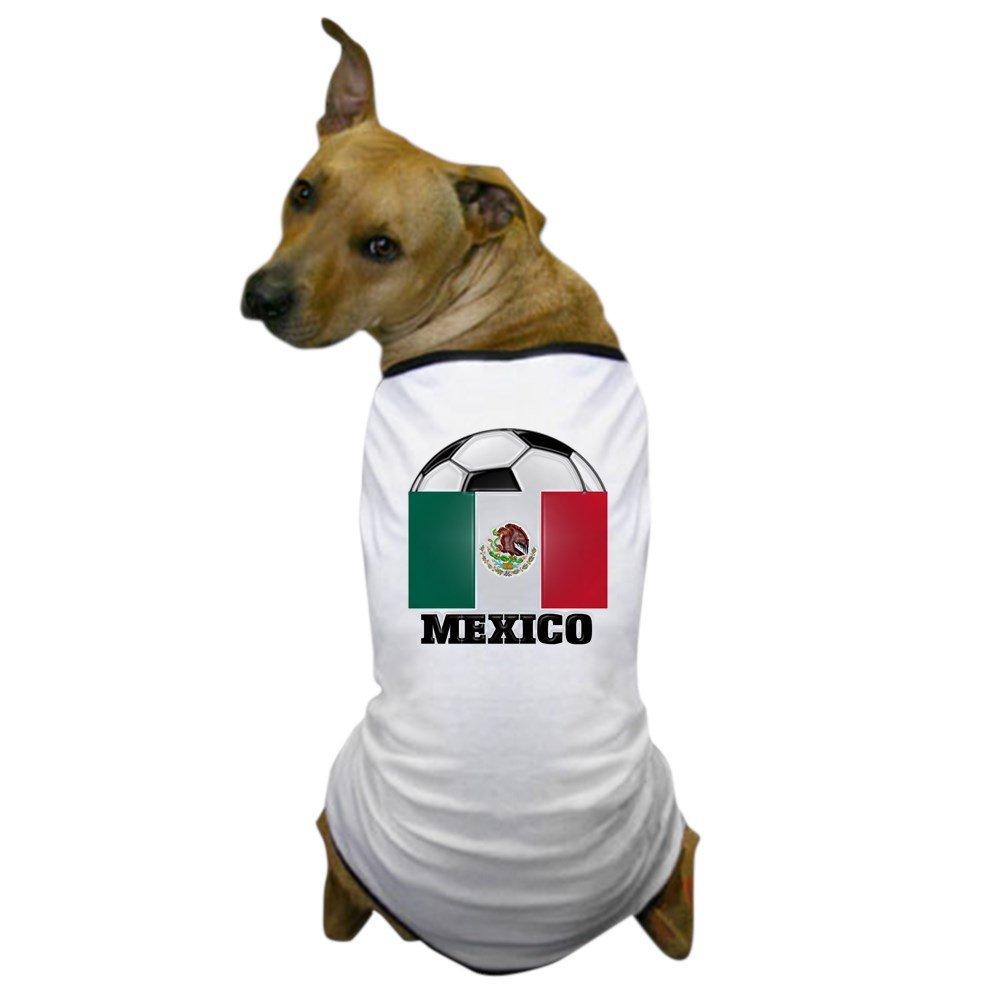 Medium CafePress Mexico Soccer Dog T-Shirt Dog T-Shirt, Pet Clothing, Funny Dog Costume