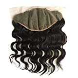 ZigZag Hair 13x6 Lace Frontal Closure Brazilian Virgin Human Hair Pre Plucked Natural Hairline Ear to Ear Full Lace Closure with Baby Hair Natural Color (20'', Body Wave)