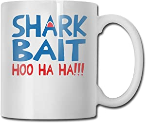 Shark Bait Hoo Ha Ha Funny Coffee Mug Tea Cup, Novelty Birthday Gift Ideas For Men Women Friend(11 Oz)