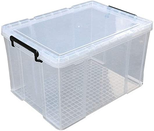 Cajas almacenaje ropa Gran caja transparente de almacenamiento, de plástico caja de almacenamiento, Juguete de almacenamiento caja de 25 litros (25L-48L caja transparente) cajas de plastico almacenaje: Amazon.es: Hogar