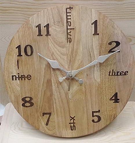 XBR Relojes Decorativos creativos Relojes de péndulo Simple Haya Reloj de Pared Reloj de Pared Reloj Room,Un: Amazon.es: Hogar
