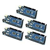 5pcs MEGA2560 Micro Controller Board with ATmega2560 and ATMega16U2 Development Board Compatible with Arduino Mega 2560 by Optimus Electric