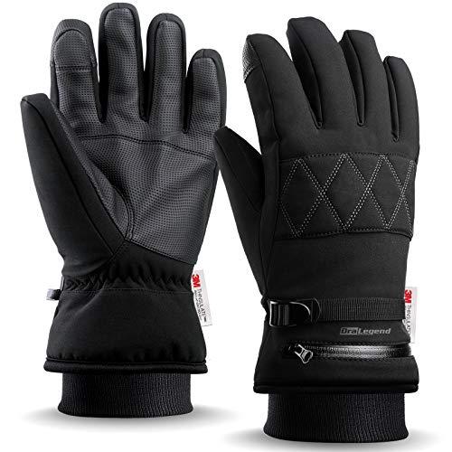 Winter Ski Gloves -Waterproof 3M Thinsulate Work & Snow Gloves for Women and Men…