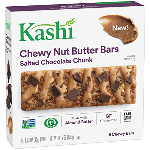 Kashi Salted Chocolate Chunk Chewy Granola Nut Butter Bars, 6.2 ()