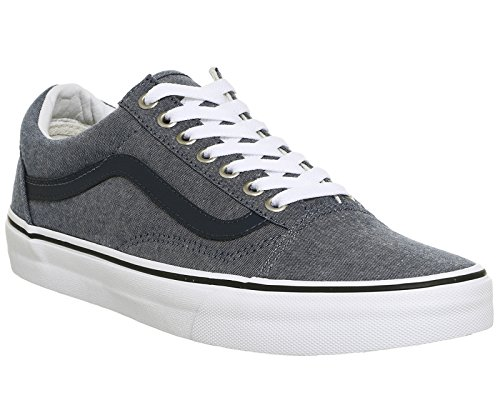 Vans Sk8-Hi - Zapatillas de skateboarding de ante para hombre C And L Chambray Blue