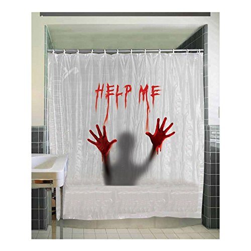 [Help Me Shower Curtain] (Scary Decorations)