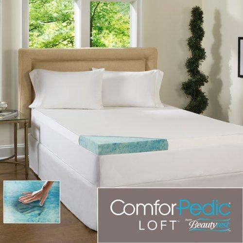Beautyrest 4 Inch Gel Memory Foam Mattress Topper With