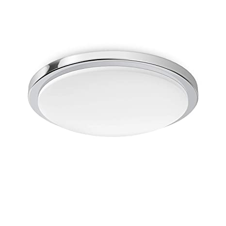 LVWIT Lámpara de Techo LED - 24W, Plafón LED de 2100 lúmenes, Color blanco neutro 4000K, No regulable - Impermeable IP54.