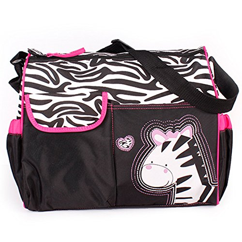 Fashion Story Baby Bag Diaper Nappy Changing Bag Mummy Tote Handbag (Zebra)
