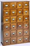 Leslie Dame CD-456ES Solid Oak Library ard File Media Cabinet, 24 Drawers, Espresso