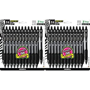 Zebra Pen Z-Grip Retractable Ballpoint Pen, Medium Point, 1.0mm, Black Ink
