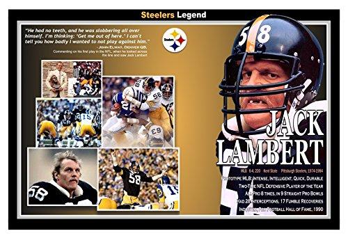 PosterWarehouse2017 JACK LAMBERT HALL OF FAME PITTSBURGH STEELER LEGEND - Pittsburgh Steelers 1970s