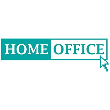 Wandkings Wandtattoo Home Office Mit Mauszeiger 50 X 15 Cm Turkis