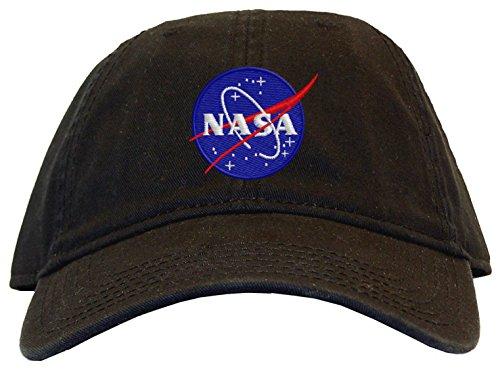 Low Profile Black Insignia Cap - Spiffy Custom Gifts Mens Nasa Meatball Insignia Low Profile Baseball Cap Black