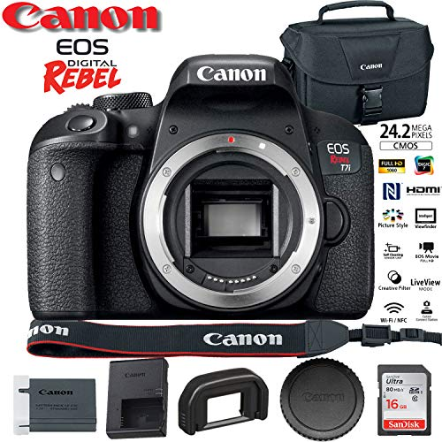 Canon EOS Rebel T7i DSLR Camera (1894C001) USA Model with Canon EOS Bag and 16GB Memory Card – Starter Set